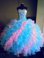 Пикантное, милое, с бисером и блестками длинное бальное платье Бальные платья 2018 Сладкий 16 платья светится в течение 15 лет Пышное Платье