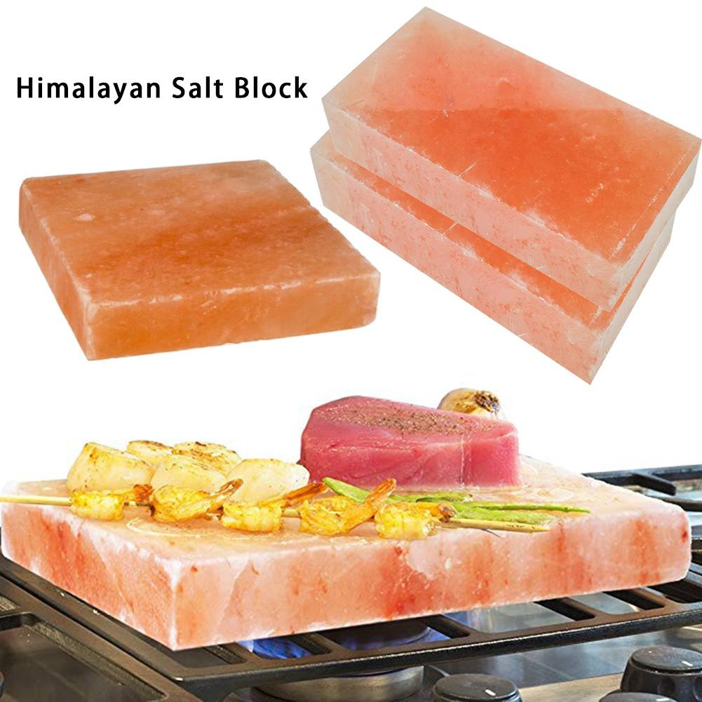 Natural Healthy Himalayan Salt Block New Way Grill Barbecue Salt Slab for Outdoor Camping Cooking Beef Oyster Chicken Delicious image