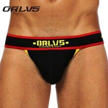 Gay Briefs Panties Thongs ORLVS Jockstraps Open Backless Sexy Men's Brand Fashion Man