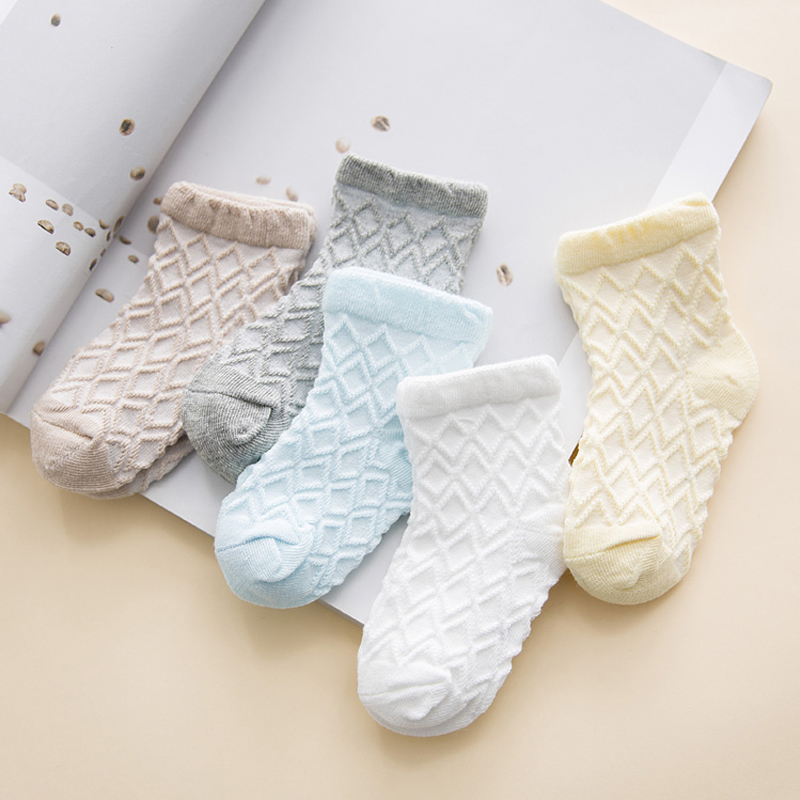 568c52a69ae3 5 Pair lot Summer Mesh Kids Socks Cotton Cute Baby Boy Girl ...