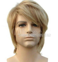 DYZ 523 Good Cos Blonde Mix Short Straight Men Cosplay Wig Short Male Man Queen Fiber