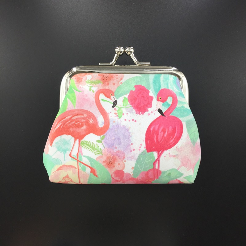 Fashion Women PU Leather Flamingo Coin Purse Cartoon Simple in Storage Bags from Home Garden