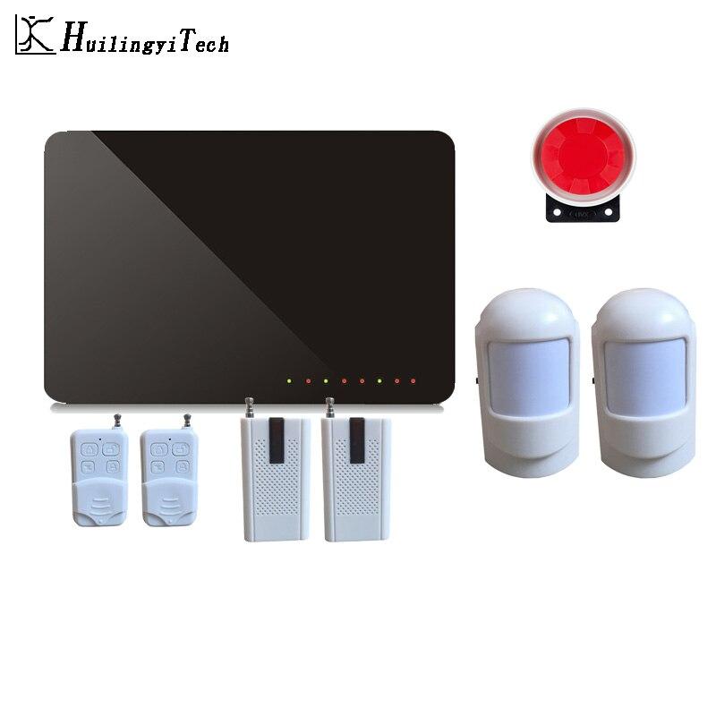 433MHz Wireless Home GSM Security Alarm System DIY Kit APP Control With Auto Dial Motion Detector Sensor Burglar Alarm System цена