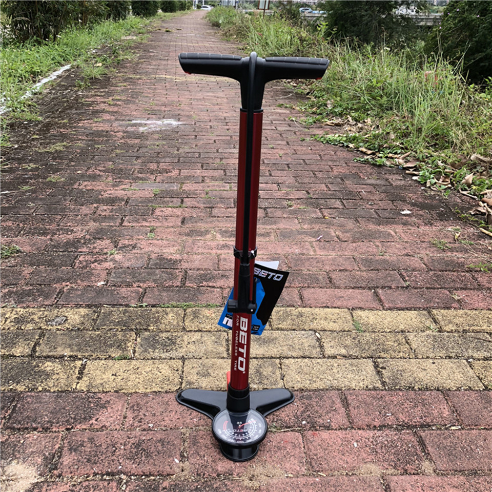 BETO Large   scale bicycle PUMP OFA two in one air storage/pump 160psi extra large 4 inch metal pressure gauge erect type pumps|Bicycle Pumps| |  - title=