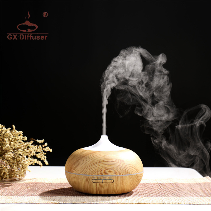 GX.Diffuser 300ML Night Light Aroma Diffuser Electric Ultrasonic Essential Oil Aromatherapy Aroma Diffuser For Yoga