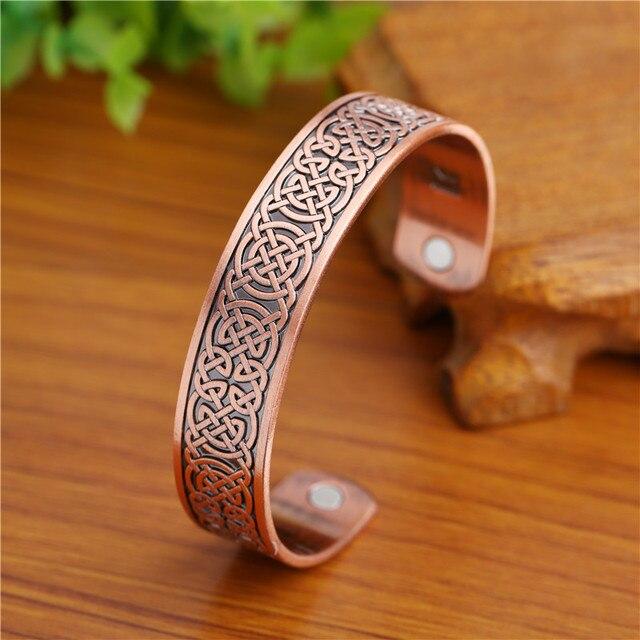 Bracelet Viking wicca cuivre magnétique 4