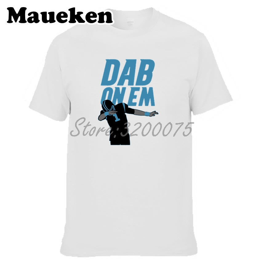 180a62d9 Men T shirt 'DAB ON EM' #1 Cam Newton Keep Pounding Clothes T Shirt Men's  for Carolina fans gift o neck tee W17061303-in T-Shirts from Men's Clothing  ...