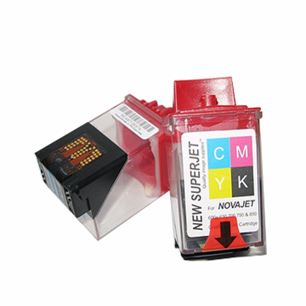 6PCS Encad Novajet 750 Lecai Locor Ink Cartridge Tank Printhead Print Head CMYK 4 Color For Novajet 600e 630 700 750 850 Printer