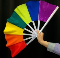 Delux colorful Pro Broken and Restored Fan - Trick, paper mache mask,magic tricks,fire,props,dice magic,comedy