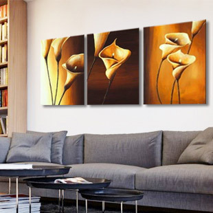 Pure Hand Painting Picture Frame Living Room Background Wall Decorative  Sofa Wall Paintings Calla Lily