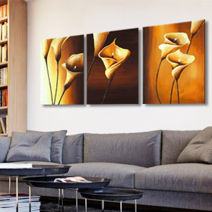 Frames For Living Room Walls Small Paint Ideas Pictures Pure Hand Painting Picture Frame Background Wall Decorative Sofa Paintings Calla Lily