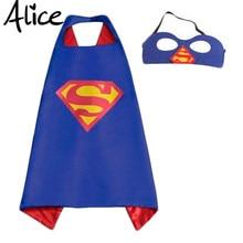 Mask+cape superman spiderman kids superhero capes batman superhero costume suits for boys girls for party