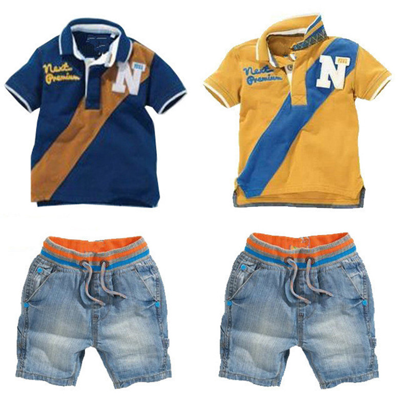 Wasailong New Hot Selling Top Quality Children Sets Baby Boys Suits Short T-shirt + Short Pants Kids Clothing Sets