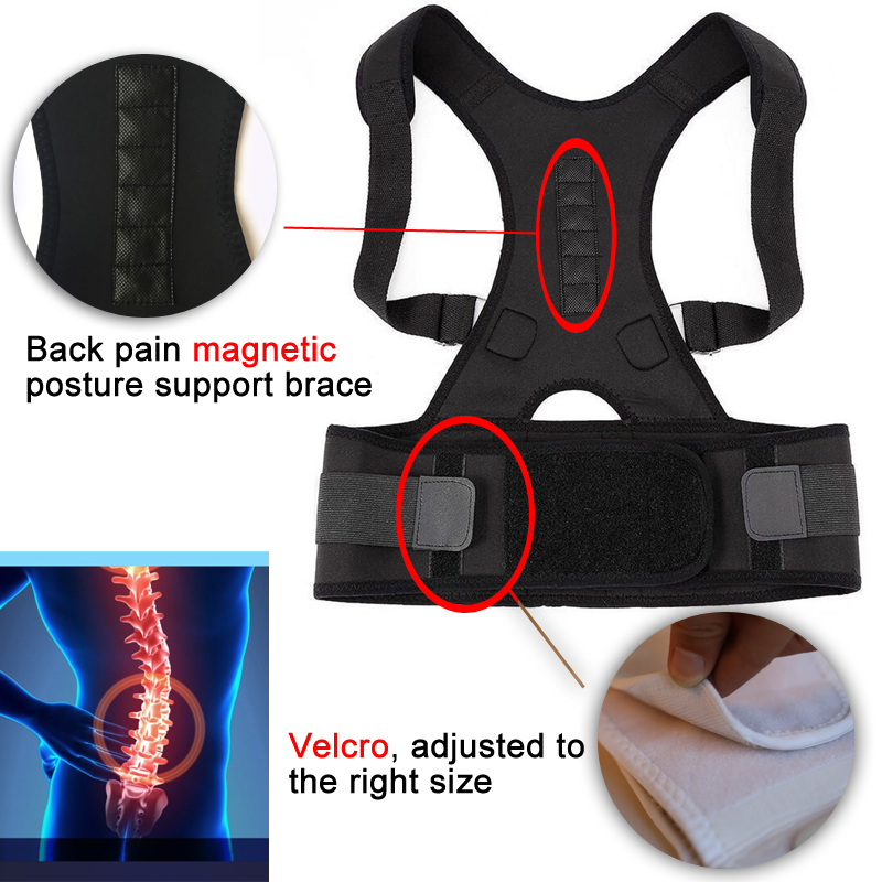 Magnetotherapy Lumbar Support Back Belts Lower Back Pain Men Women Magnetic Therapy Neoprene Shoulder Support Back Brace Corsets