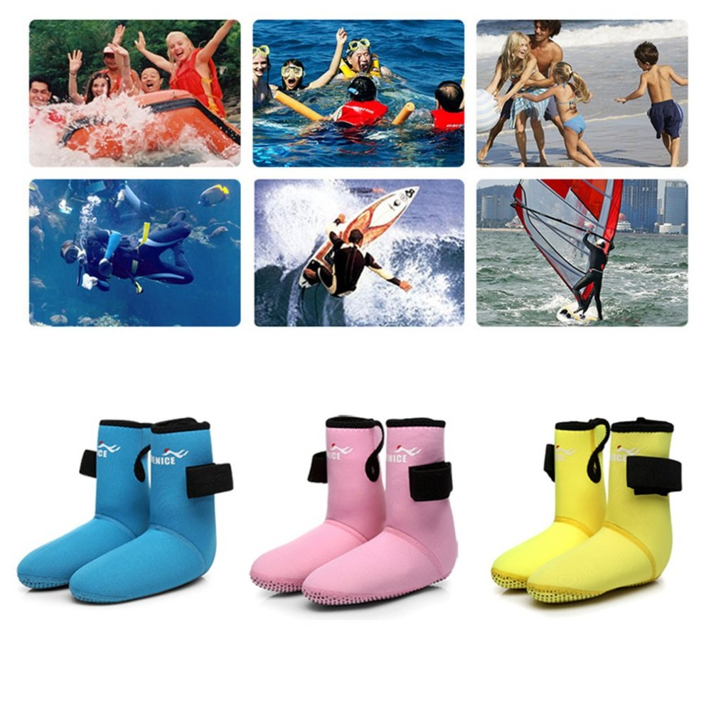 Children Diving Fin Socks Abrasion Resistant Snorkeling Shoes Diving Socks Beach Boots Wetsuit Prevent Scratch Non-Slip Hot Sale