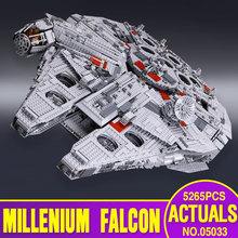 Lepin 05033 5265Pcs Star Wars Ultimate Collector s Millennium Falcon Model Building Blocks Bricks Kit Toy