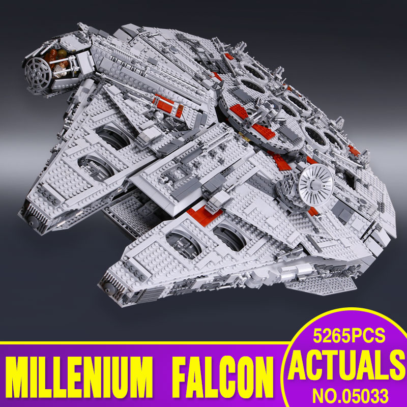 Star Wars font b lepin b font 05033 5265Pcs Ultimate Collector s Millennium Falcon Model Building