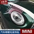2 sztuk = 1 zestaw 31mm * 17mm 3D osobowości rzęs reflektory samochodowe brwi dekoracyjne naklejki do bmw MINI cooper Auto akcesoria