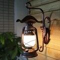 Retro Kreative Hand Gefertigt Eisen Glas Laterne Led E27 Wand Lampe für Wohnzimmer Bar Eingang Balkon H 46 cm 1793-in LED-Innenwandleuchten aus Licht & Beleuchtung bei