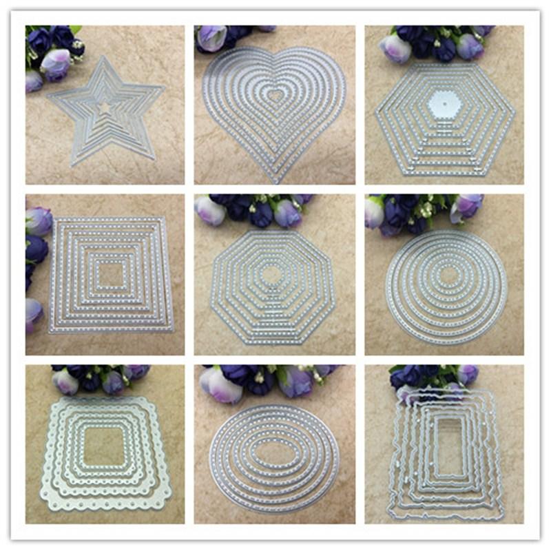 Molde de corte de estrelas, 8 peças, básico, aço carbono, metal, moldes de scrapbooking, cartões de papel decorativo, modelo