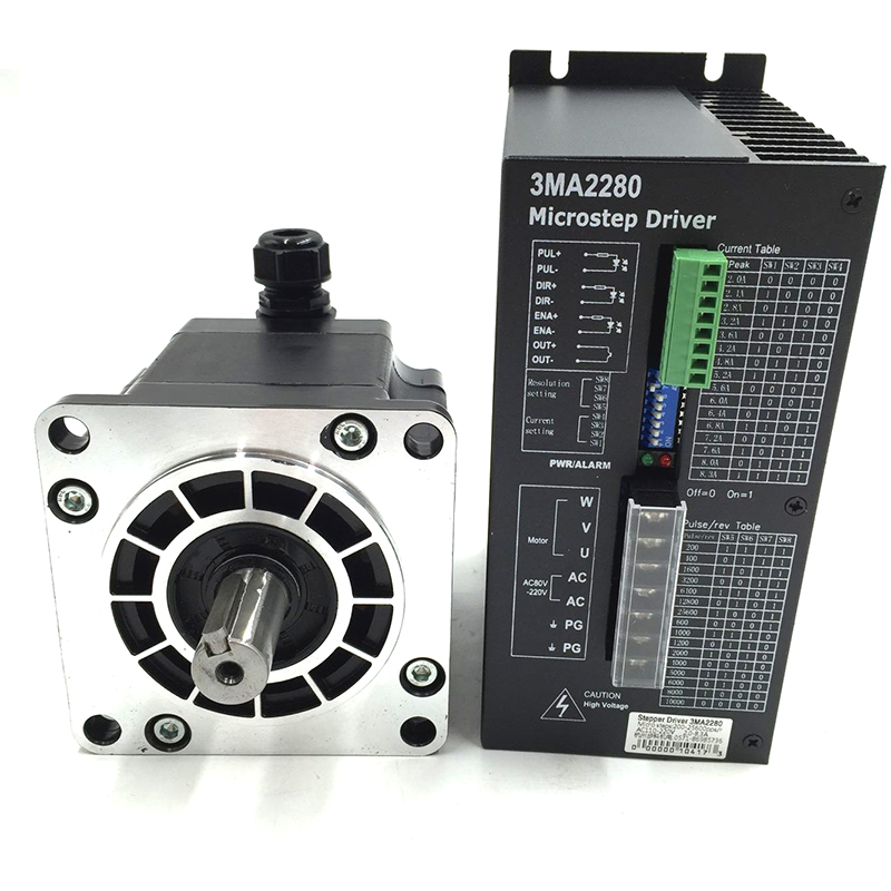 ToAuto CNC 110mm NEMA 42 Stepper Motor With Driver 3 phase 1.2 Degree Step Angle 8Nm 4.3A 3MA2280+110BYGH350A 2dm2280 2phase stepper motor driver ac80 240v 8a suitable for nema 34 42 51 step motor