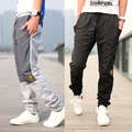 Men's applique pants  pants plus velvet thickening long trousers Size S-XXL 2colors
