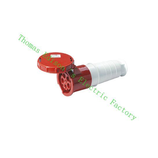 Industrial Coupler Socket Plug 235 CNQD-235 Red 63A 220V~415V 3P+E+N 5pin 10PCS/carton abb industrial connector four pole mobile industrial plug 63a 363p6