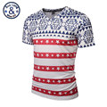 2017 Spring/Summer Style Men/Women Clothing Casual Short Sleeve Red/White Striped Five-Stars Plus Size Thin Harajuku Tee T-shirt