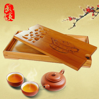 Bamboo tea tray, kung fu tea set, bamboo tray, containing water storage type, Office solid wood teaboard, tea table, length 27CM