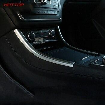Car Styling Gear Shift panel decorative strip auto cover trim For Mercedes Benz GLA200  220 A180 CLA Auto interior sticker