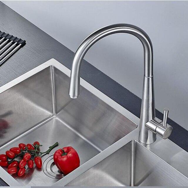 Hochwertige 304 edelstahl gebürstet küchenarmatur 360 grad drehtisch ...