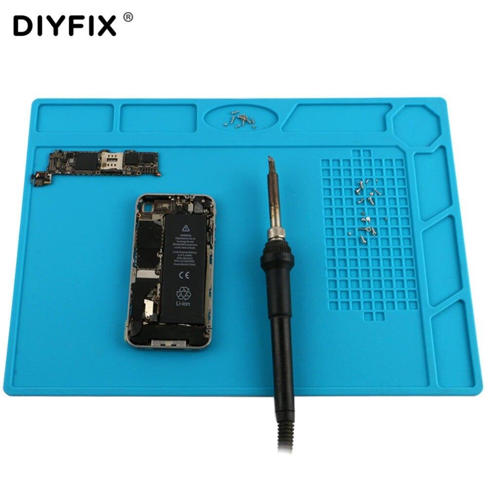 DIYFIX Isolation thermique Silicone Pad Tapis de Bureau Plate-Forme de Maintenance pour BGA À Souder Station De Réparation avec Vis Position