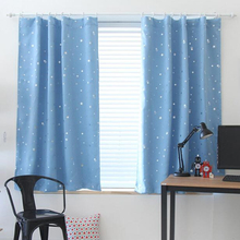 Fashion New 1Pc Hooking Blackout Children Curtains Star Window Curtain Decoration Draperies Living Room Bedroom #249887(China)