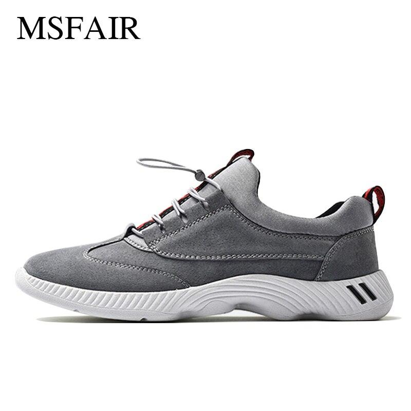 Msfair Men Running Shoes Outdoor Jogging Sport Shoes For Men Sports Running Shoes Pig Leather Breathable Men Sneakers Size 39-46 men running shoes canvas sport shoes breathable running shoes men sneakers 2s28