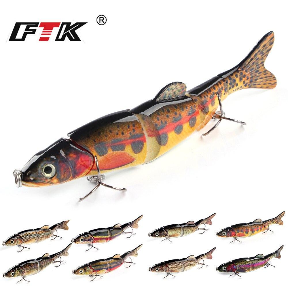 FTK Angeln Locken 1 stück Schwimmen Köder Wobbler Haken Tackle 5 Segment 165mm/39g Assorted Bass Topwater crankbait Schwimm Hard Sinking HF