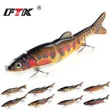 FTK Fishing Lure 1pc Swim Bait Wobbler Hook Tackle 5 Segment 165mm/39g Assorted Bass Topwater Crankbait Floating Hard Sinking HF