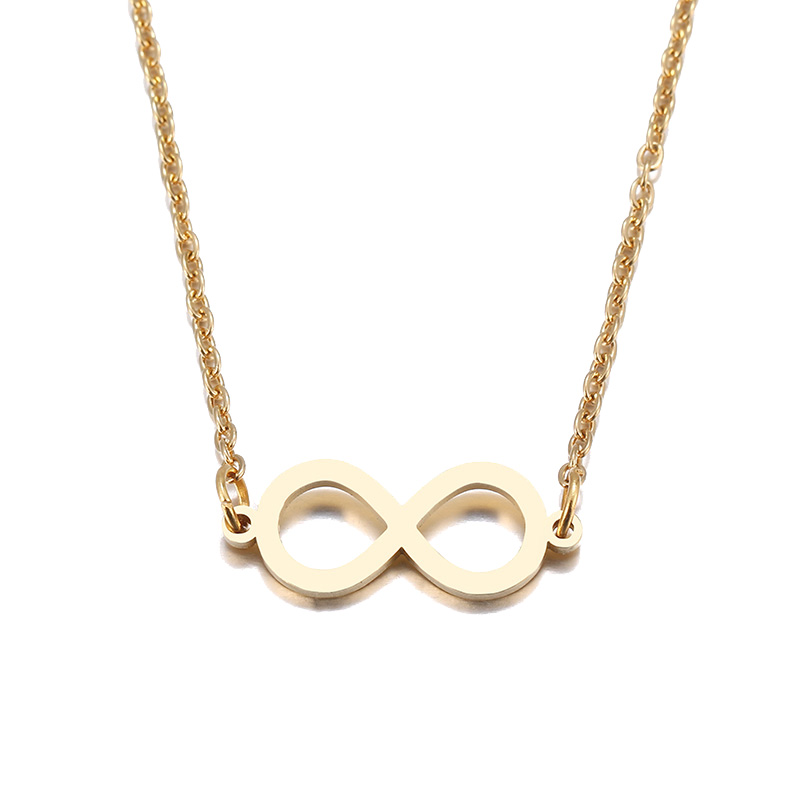 Hibobi Necklace Women Stainless Steel Jewelry Chic Infinity Trendy Necklaces Pendants Donot Fade Valentine`s Day Gift (4)