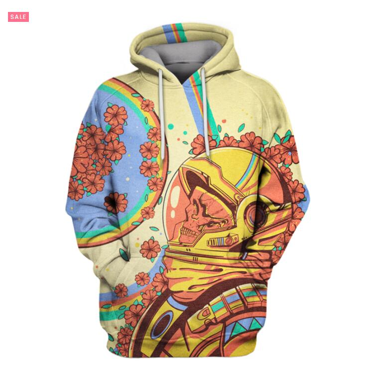 3d Print3d Astronaut In Blume Hintergrund Volle-druck T Männer Frauen Hoodies Sweatshirt Coseplay Astronaut Spacesuit Hoodies Top2