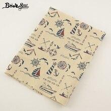 099c60094 Booksew tela de lino de algodón de tema de mar de diseño Material de  costura para mantel almohada bolsa cortina cojín Zakka deco.