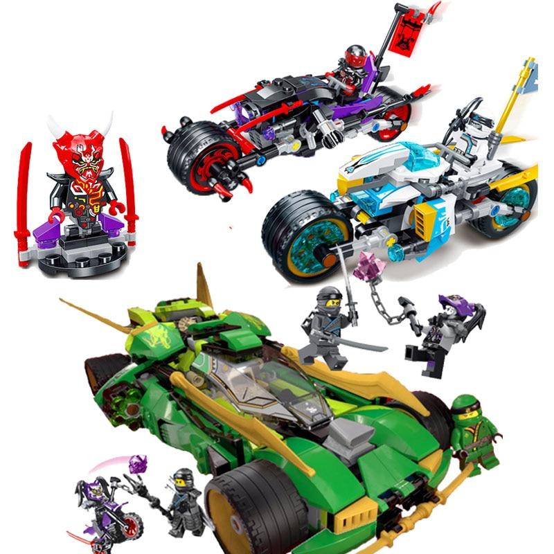 Lloyd Nightcrawler Cars And Street Race of Snake Jaguar Zane's Oni bike Building Blocks Toys Compatible LegoINGly NinjagoING oni namerenno priblizhayut carstvo antixrista