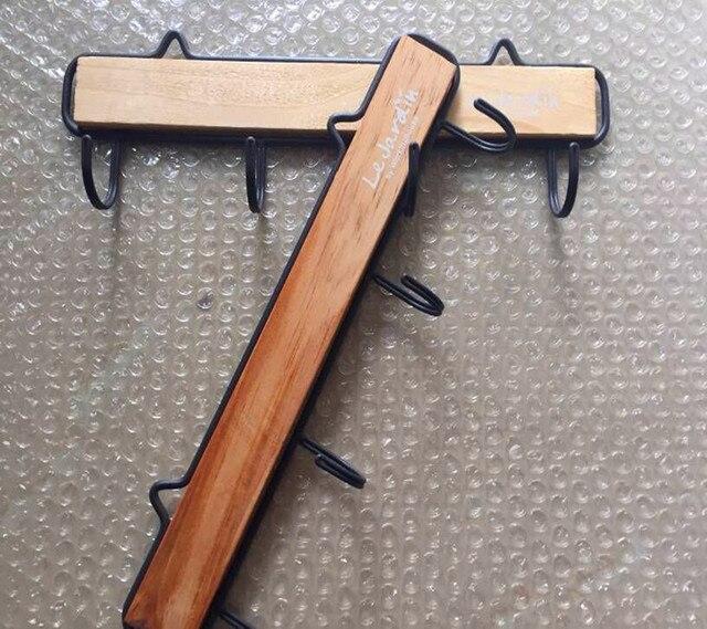 ganchos carril retro mini madera gancho clave estante de la vendimia ropa de madera perchero