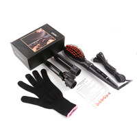 3 In 1 Rollers Curling Iron Wave Wand Set Interchangeable Ceramic Electric Hair Curler Brush Electric Hair Straightener Comb