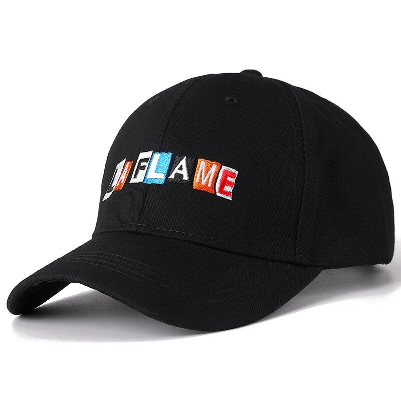 New Cotton Cap LA FLAME Dad Hat High Quality Travis Scotts Embroidery Baseball Caps High Quality Black Snapback Hats