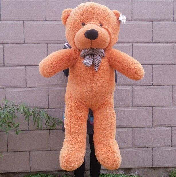 Гигантский большие белый/светло-коричневый/темно-коричневый/розовый плюшевый мишка 100 см плюшевый мишка игрушки готовой кукла - Высота: 1m light brown