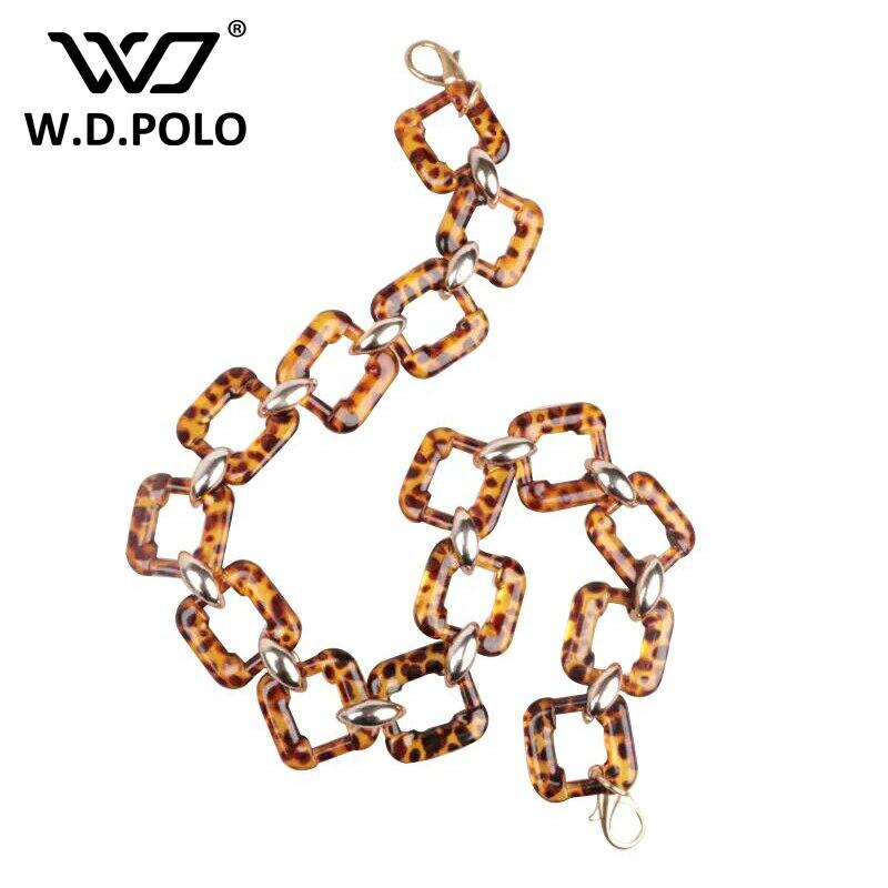 WDPOLO 2017 New acrylic women fashion handbag strap long size natural design chic shoulder bag stripes hot sell bags accessories