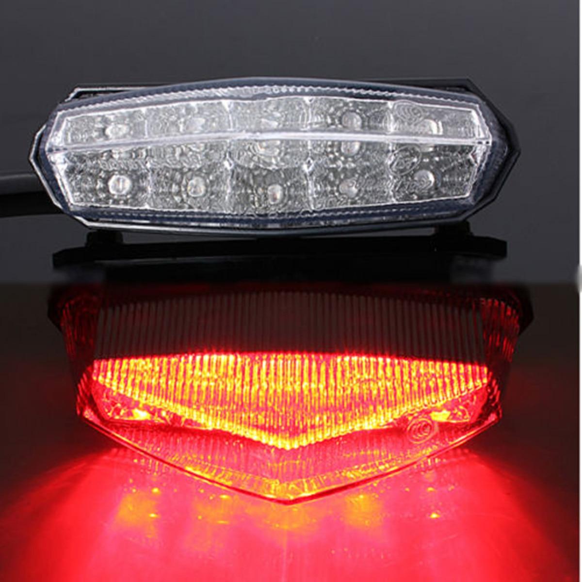 10 LED Universal Motorcycle ATV Rear Stop Tail Rear Stop Brake Light License Plate Lamp