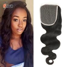 100% human hair Malaysian body wave lace closure virgin hair weave closures 4×4 1pc 8A malaysian virgin human hair closure