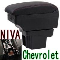 for Chevrolet NIVA Armrest box nivr chevrolet niva Central storage box Double layer front and rear USB Car interior armrest