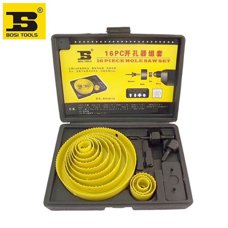 BOSI 16pc hole saw bit kit set holesaw wood 3/4 inch 5 - SIJIBOSI Hand Tools Co., LTD. Store store