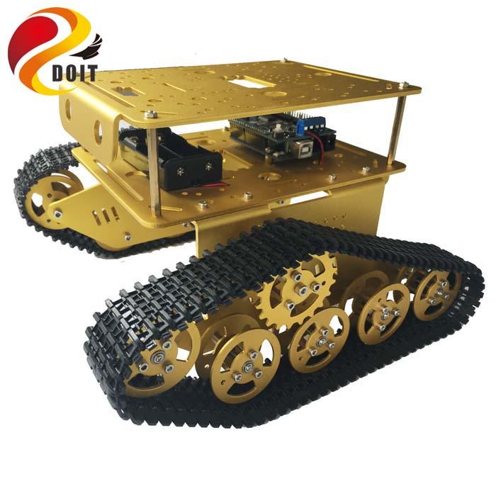 Doble Decker tanque WiFi RC T300 de ESPduino Kit de desarrollo con L293D Motor Shield Compatible con Arduino UNO-in Tanques RC from Juguetes y pasatiempos    1